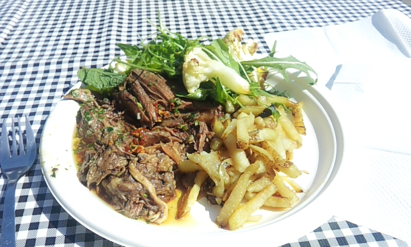 Braised beef lunch. Yum!!!!